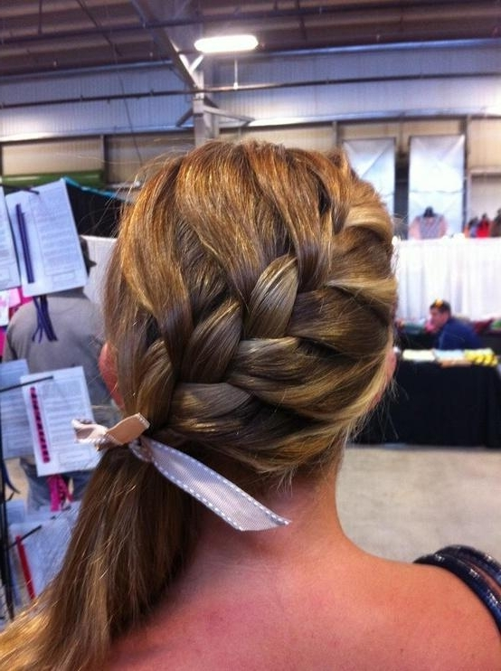 French Braid Side Ponytail – Long Hairstyles How To Inside Braided Side Ponytail Hairstyles (View 25 of 25)