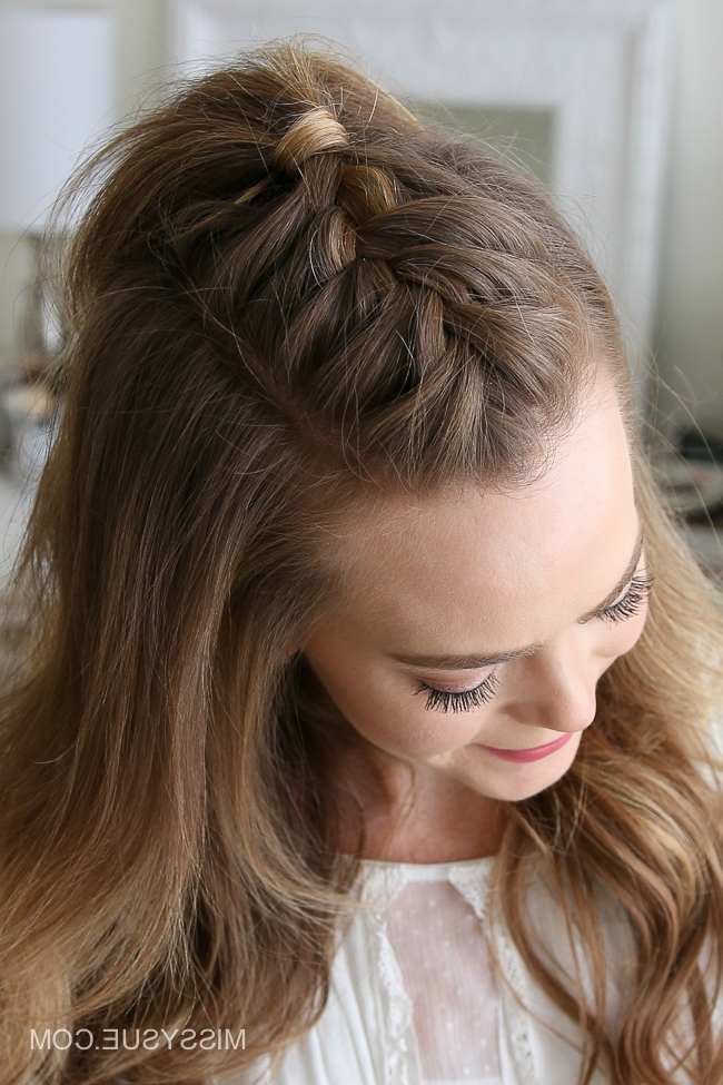 French Mohawk Braid | Missy Sue Throughout Mohawk Braid Into Pony Hairstyles (View 12 of 25)