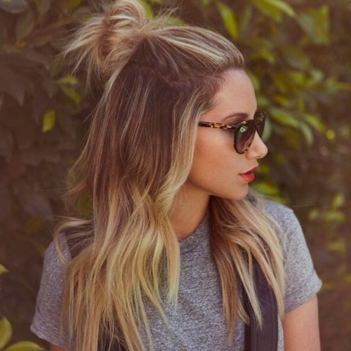 Friday Favorite: Hair Tutorial (The Beauty Mark)   Best In Bridal Inside Casual Half Up Ponytail Hairstyles (View 14 of 25)