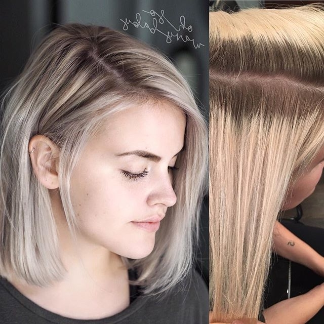 Featured Photo of Sleek Blonde Hairstyles With Grown Out Roots