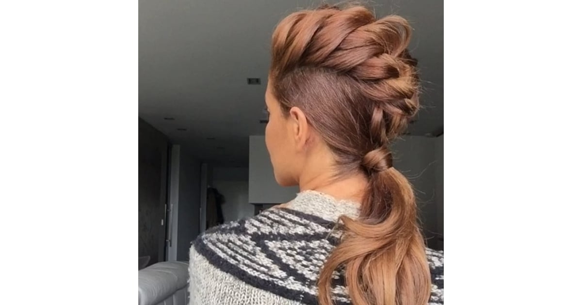 Funky Mohawk Braid | Sarah Angius's Best Instagram Hair Tutorials In Mohawk Braid And Ponytail Hairstyles (View 22 of 25)