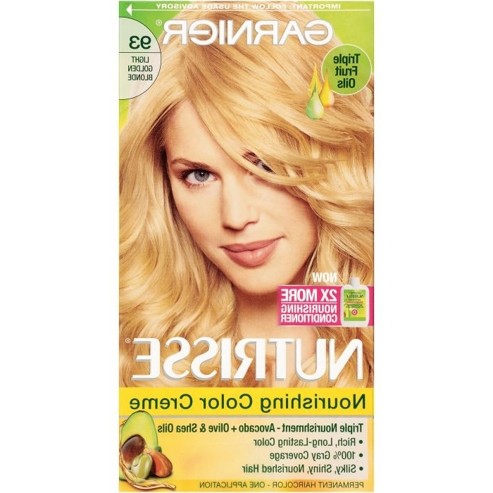Garnier Nutrisse Nourishing Color Creme – 93 Light Golden Blonde Regarding Amber And Gold Blonde Hairstyles (Gallery 23 of 25)