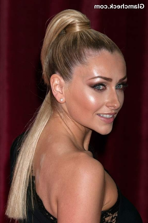 Gemma Merna Sports Sleek Ponytail At Brit Soap Awards 2013 With Super Sleek Ponytail Hairstyles (View 21 of 25)