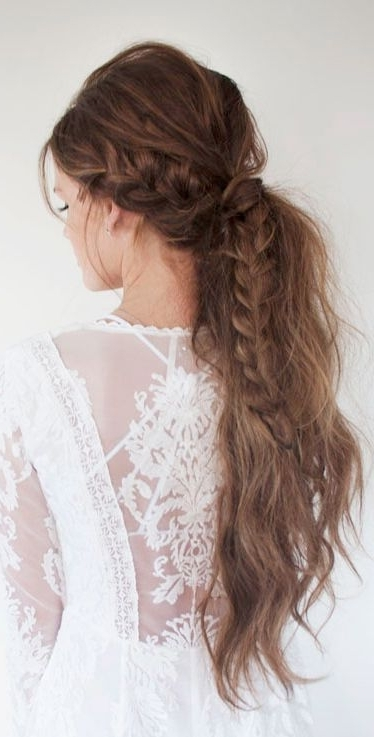 Get Nye Ready With 3 Hair Tutorials From Lindsey Pengelly! | Braids Intended For Messy Pony Hairstyles With Lace Braid (Gallery 25 of 25)