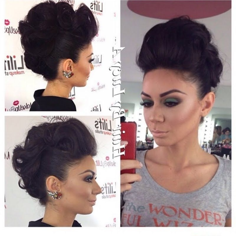 Get That Edgy Vibe With This Fierce Faux Mohawk Up Do Hairstyle For Intended For Fierce Faux Mohawk Hairstyles (Gallery 3 of 25)