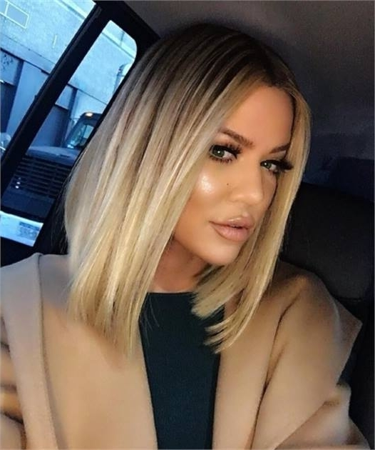 Get The Formula: Khloe Kardashian's Bombshell Blonde - Inspiration inside Bodacious Blonde Waves Blonde Hairstyles