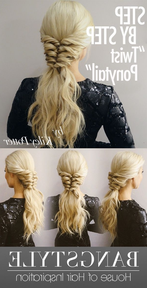 Get The Look! Twist Ponytail Tutorialkiley Potter | Hair Pertaining To Glossy Twisted Look Ponytail Hairstyles (Gallery 14 of 25)