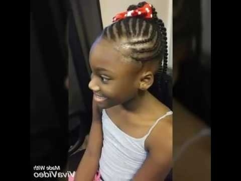 Girls Senegalese Twist Crochet Ponytail - Youtube with regard to Cornrows And Senegalese Twists Ponytail Hairstyles