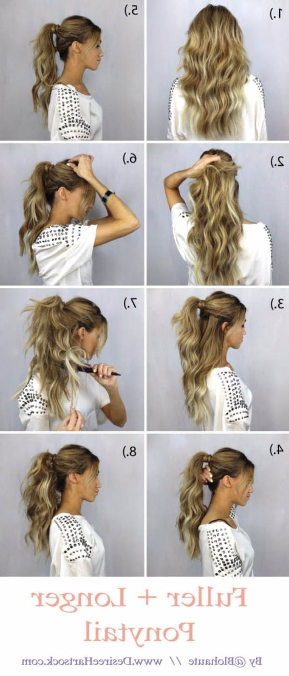 Glam Ponytail Tutorials – How To Create A Fuller + Longer Ponytail Pertaining To Glam Ponytail Hairstyles (View 15 of 25)