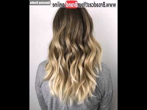 Golden Blonde Balayage For Dark Brown Hair – Youtube Pertaining To Golden Blonde Balayage Hairstyles (View 22 of 25)