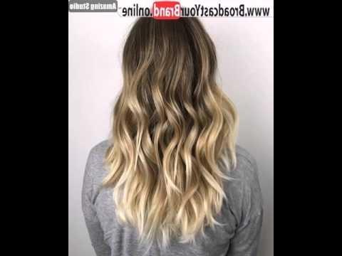 Golden Blonde Balayage For Dark Brown Hair – Youtube Pertaining To Golden Blonde Balayage Hairstyles (Gallery 22 of 25)