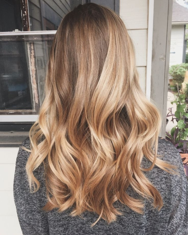 Golden Blonde Ombre Long Hair – Best Long Hair 2018 Inside Icy Ombre Waves Blonde Hairstyles (Gallery 14 of 25)