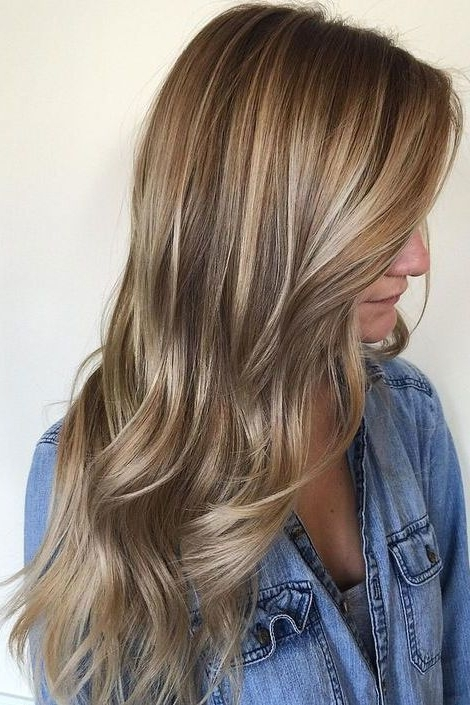 Gorgeous Brown Hairstyles With Blonde Highlights | Honey Highlights In Light Brown Hairstyles With Blonde Highlights (Gallery 3 of 25)