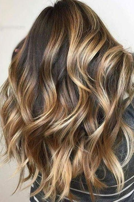 Gorgeous Brown Hairstyles With Blonde Highlights In 2018 | Hair With Regard To Tortoiseshell Curls Blonde Hairstyles (Gallery 1 of 25)