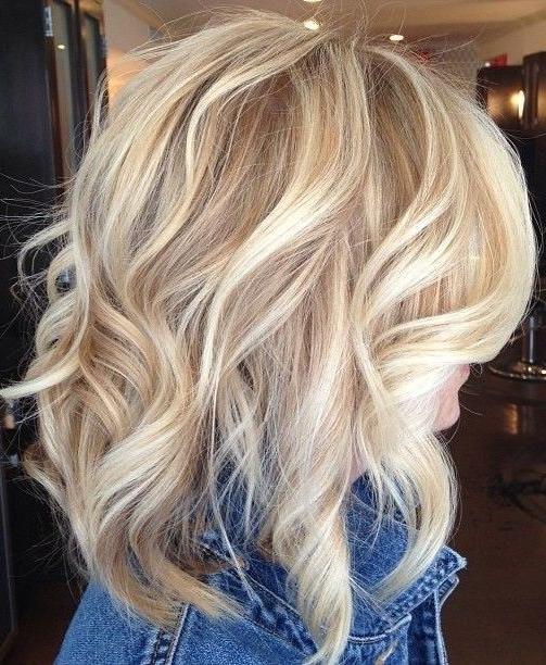 Gorgeous Butter Blonde Medium Hairstyles For Women 2015 | Pinterest Regarding Warm Blonde Curls Blonde Hairstyles (Gallery 6 of 25)