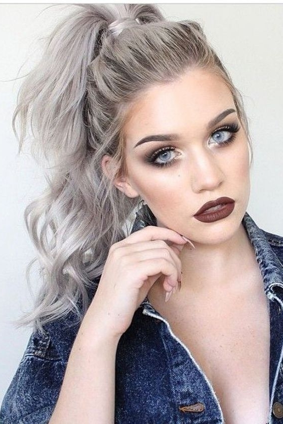Gorgeous Grey Hair Trend Colors You Should Consider | Hair In High Ponytail Hairstyles (View 11 of 25)