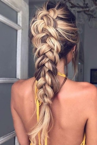 Gorgeous Ideas Of Dutch Braid Hairstyles 2018 – My Stylish Zoo For Messy Dutch Braid Ponytail Hairstyles (Gallery 23 of 25)
