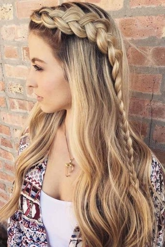 Gorgeous Ideas Of Dutch Braid Hairstyles 2018 – My Stylish Zoo Inside Ponytail Hairstyles With A Braided Element (Gallery 24 of 25)