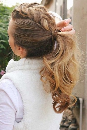 Gorgeous Ideas Of Dutch Braid Hairstyles 2018 – My Stylish Zoo Throughout Messy Ponytail Hairstyles With A Dutch Braid (View 17 of 25)