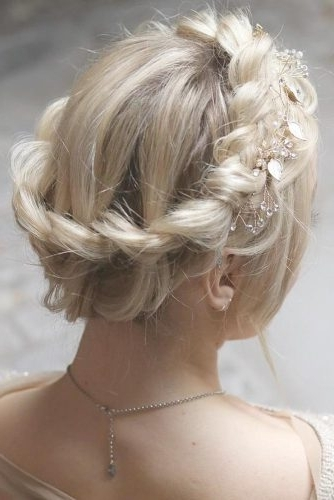 Gorgeous Ideas Of Dutch Braid Hairstyles 2018 – My Stylish Zoo Throughout Platinum Braided Updo Blonde Hairstyles (View 8 of 25)