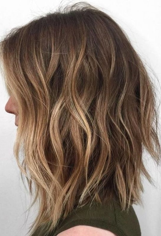 Gorgeous Lob Hairstyles For Trendy Women 2017 2018 | Hairstyles 2017 For Caramel Blonde Lob With Bangs (View 25 of 25)