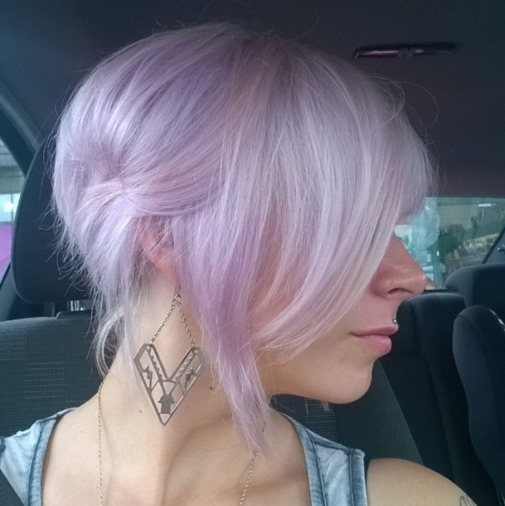 Gorgeous Pastel Purple Hairstyle Ideas: Balayage Hair Styles Designs inside Platinum And Purple Pixie Blonde Hairstyles