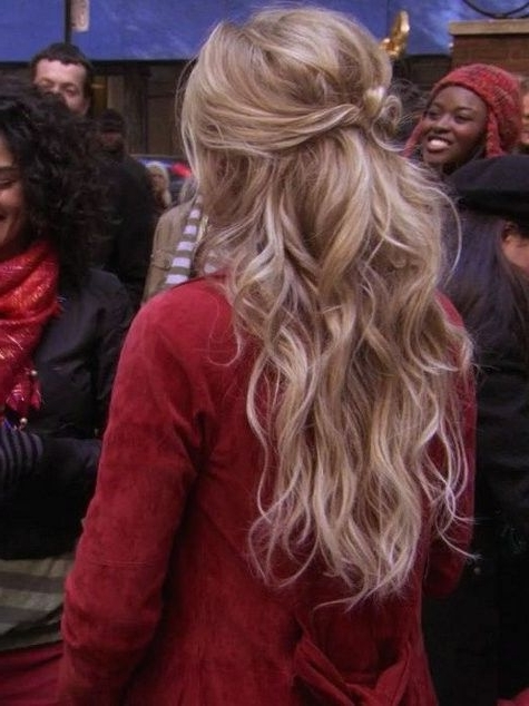 "Gossip Girl ""roman Holiday"" Serena's Hair Messy Half Updo 