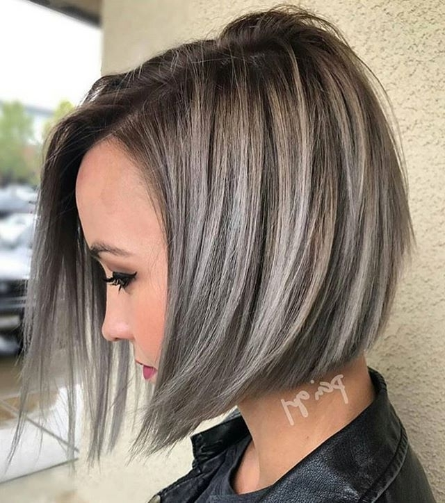 Gray Hair Highlights, Gray Highlights And Silver Hair Highlights inside Dark Brown Hair Hairstyles With Silver Blonde Highlights