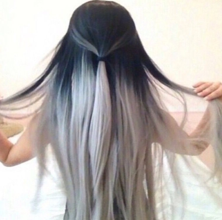 Grayscale | Hair | Pinterest | Hair Coloring, Hair Style And Makeup Inside Grayscale Ombre Blonde Hairstyles (Gallery 16 of 25)