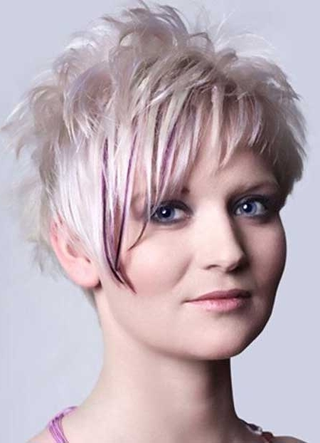 Great Hair Colors For Short Hair | Short Hairstyles 2017 - 2018 pertaining to Platinum And Purple Pixie Blonde Hairstyles