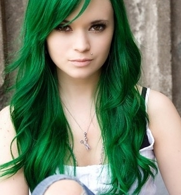 Green Hair Color For St (View 17 of 25)