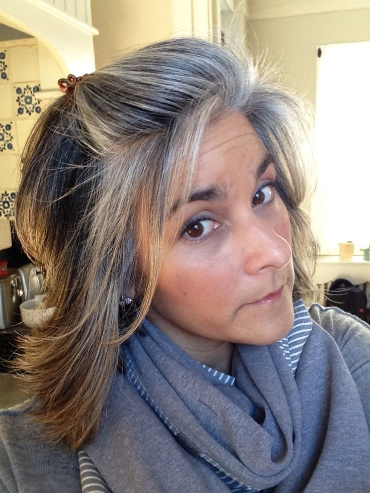 Growing Out Gray With Balayage – Google Search | Beauty | Pinterest Pertaining To Sleek Blonde Hairstyles With Grown Out Roots (View 5 of 25)