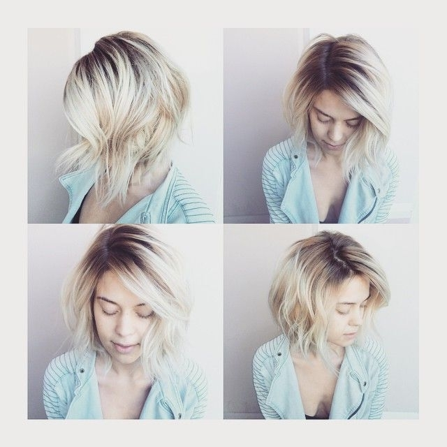 Featured Photo of Grown Out Platinum Ombre Blonde Hairstyles