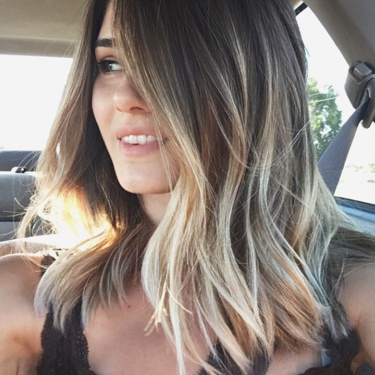 Grunge Balayage Sun Kissed Beach Haircut/ Hairstyle | Fashion Regarding Sun Kissed Blonde Hairstyles With Sweeping Layers (View 2 of 25)