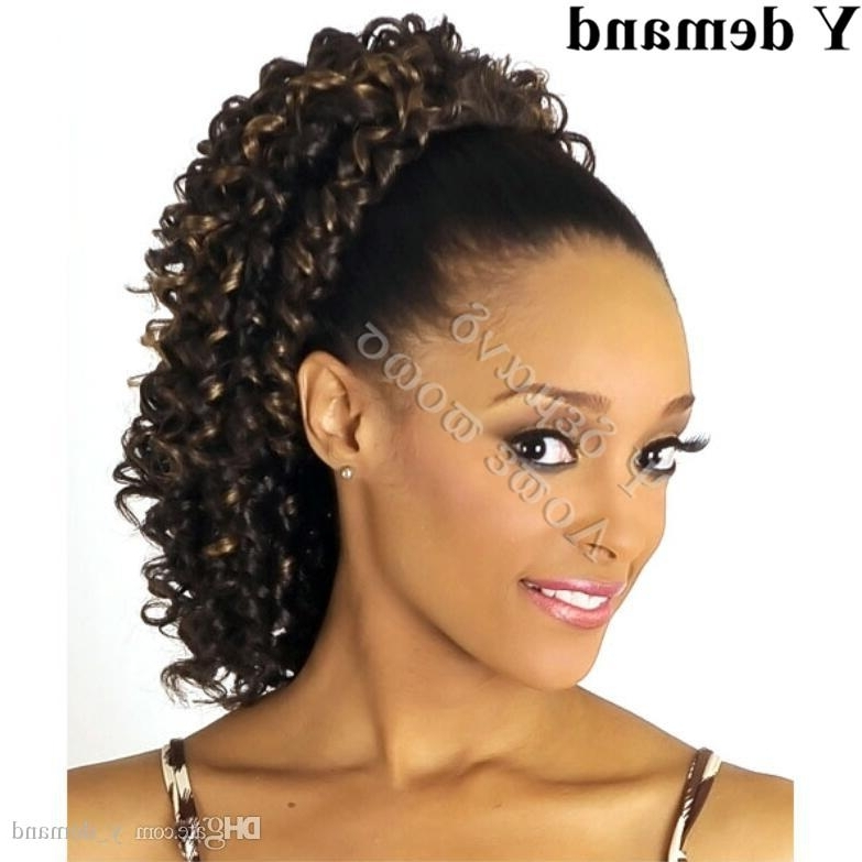 Hair Accessories Kinky Curly Claw/drawstring Ponytail Hair High Within High And Glossy Brown Blonde Pony Hairstyles (View 21 of 25)