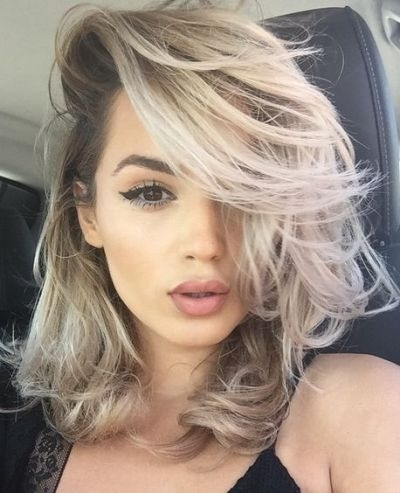 Hair Color For Brown Eyes – 38 Ultra Glamorous Ideas You Would Love Regarding Glamorous Mid Length Blonde Bombshell (View 18 of 25)