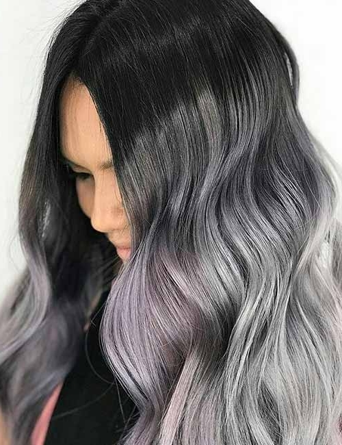 Hair Color Ideas With Black Hair | Makeup For Fashion Trends Throughout Grayscale Ombre Blonde Hairstyles (View 18 of 25)
