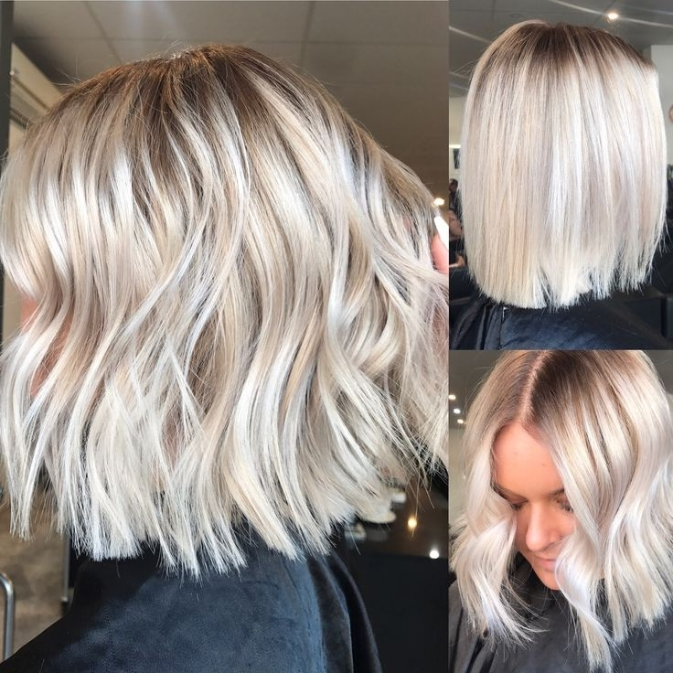 Hair Color Trends 2017/ 2018 – Highlights : Blonde Balayage, Long Throughout Icy Waves And Angled Blonde Hairstyles (View 6 of 25)