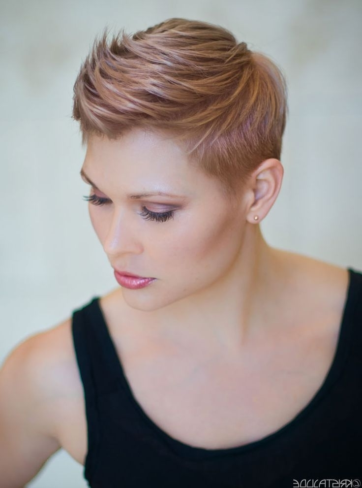 Hair Color Trends 2017/ 2018 – Highlights : Formulas: Rose Gold Regarding Most Recently Rose Gold Pixie Hairstyles (View 5 of 25)