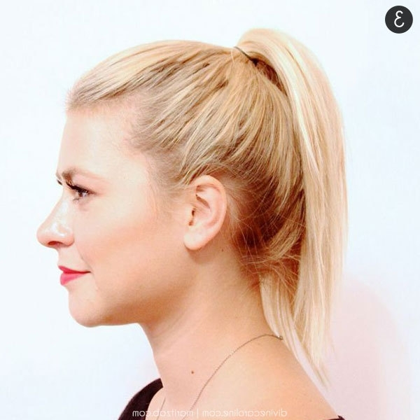 Hair How To: A High Ponytail That Won't Fall | More Within Ponytail Hairstyles For Fine Hair (View 19 of 25)