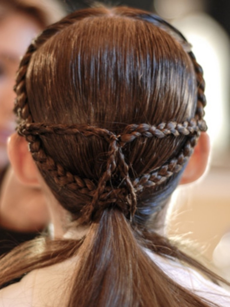 Hair Ideas: How To Make This Braided Ponytail Into A Perfect Date With Regard To Braided Millennial Pink Pony Hairstyles (View 7 of 25)
