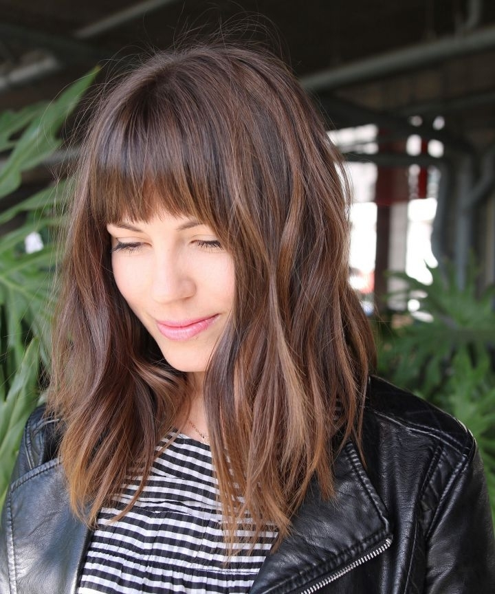 Hair Ideas Trends 2018 – Accessories Shag Blunt Bangs With Accessorize Curled Look Ponytail Hairstyles With Bangs (View 23 of 25)