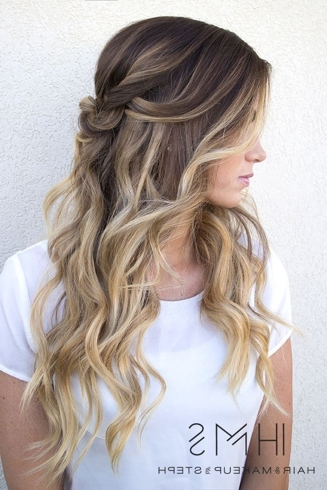 Hair Style Ideas : Brown Base With Dark Blonde Highlights And Intended For Dirty Blonde Balayage Babylights Hairstyles (View 23 of 25)