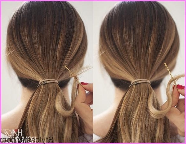 Hair Trick – Wrap Around Ponytail Without Bobby Pins | Stylesstar ® With Wrapped Up Ponytail Hairstyles (View 11 of 25)