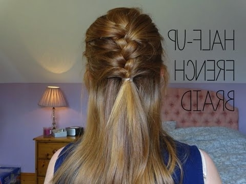 Hair Tutorial | Half Up French Braid! | Simply Redhead – Youtube In Half French Braid Ponytail Hairstyles (View 9 of 25)