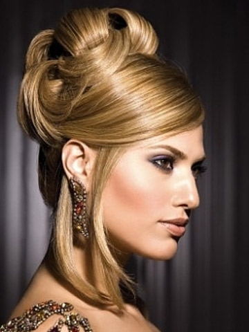 Hair Updos Cut 2014 : Simple Updo Hairstyles Inside Waist Length Ponytail Hairstyles With Bangs (View 24 of 25)