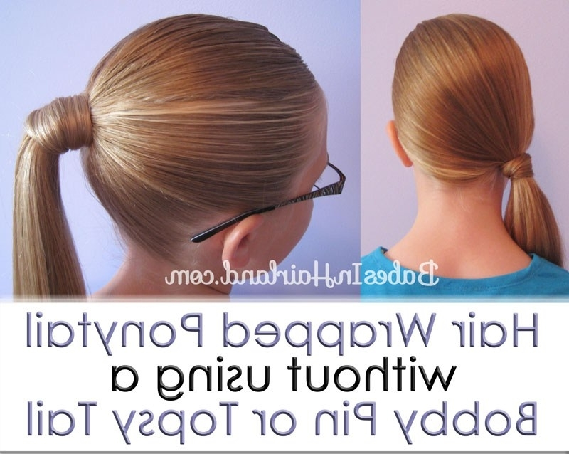 Hair Wrapped Ponytail – Our Way – Babes In Hairland Throughout Wrapped Up Ponytail Hairstyles (View 5 of 25)