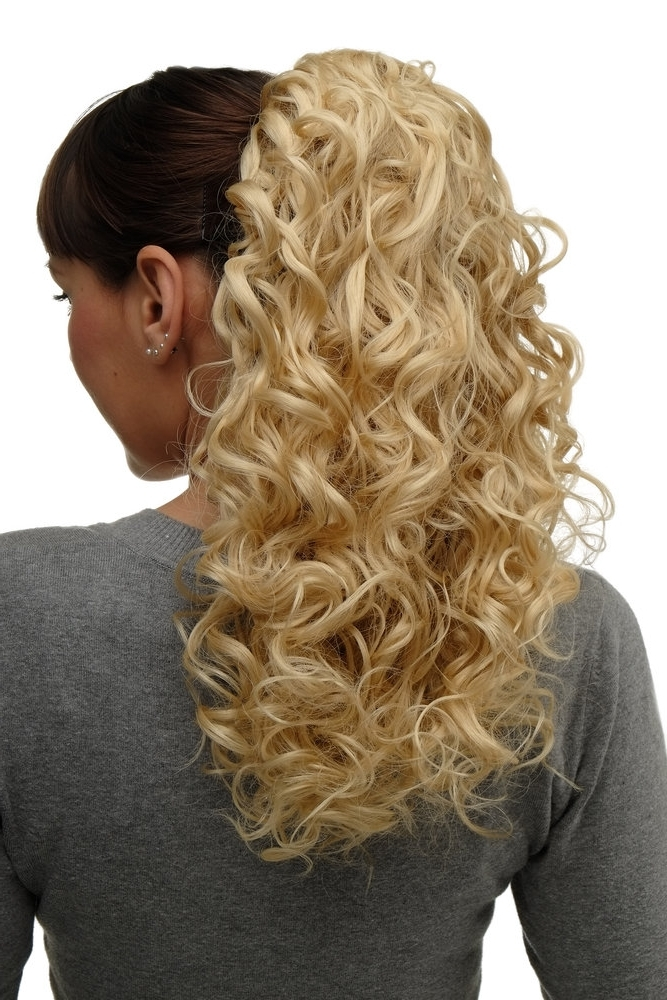 Hairpiece Ponytail With 2 Combs/clips & Elastic Draw String Long With Regard To Voluminous Pony Hairstyles For Wavy Hair (View 16 of 25)
