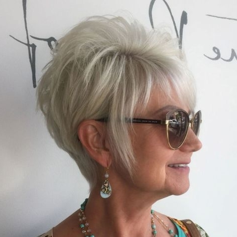 Hairstyle: Amazing Short Hairstyles For Middle Aged Women Ideas Bob With Regard To Best And Newest Ash Blonde Pixie Hairstyles With Nape Undercut (View 14 of 25)
