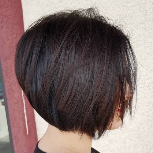 Hairstyle: Astounding Short Stacked Bob Haircuts Inspiration Stack For Current Stacked Pixie Hairstyles With V Cut Nape (View 9 of 25)